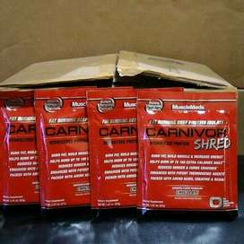 8 Sachet Susu Musclemeds Carnivor Shred Beef Protein Isolate Fatburner