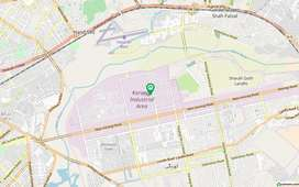 Open plot is available for rent at korangi industrial area sector 05