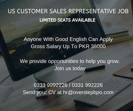 US  Sales Rep Job. Candidates With Good English Skills Can Apply