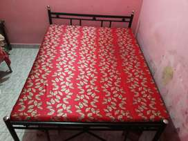 Urgently sale bed with mattress