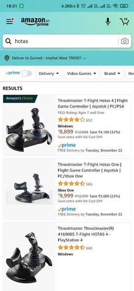 Hotas X Thrustmaster for PS and PC
