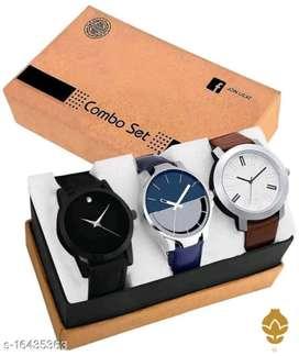 men stylish 3 watch pack