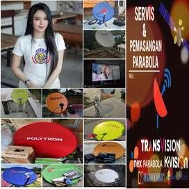TAMAN Parabola anten tv free iuran full hd,cling,hakmilik,lngs teknisi