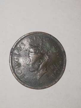 One quarter anna old coin