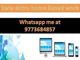 Genuine work home based data entry part time job