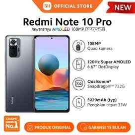 Promo murah xiaomi Redmi Note 10 pro 8/128 resmi, bs kredit/bs tt