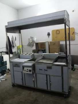 Hot plate d fryer  grill working area
