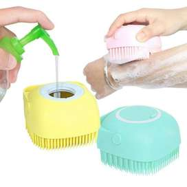 Silicone Bath and Body Shower Brush With Soap Dispenser