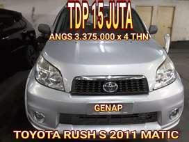 Toyota rush s 2011 matic gress siap pakai tdp 15 jt angs 3 jtan