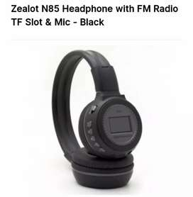 Headset fm radio tf slot & mic