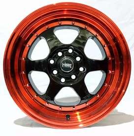 Jual velg racing HSR Ring 15 Untuk mobil Brio, Ayla,sigra(bisa credit)