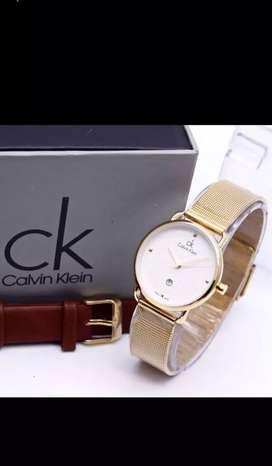 Jam tangan Calvin Klein wanita cocok buat kado, dilengkapi tanggal