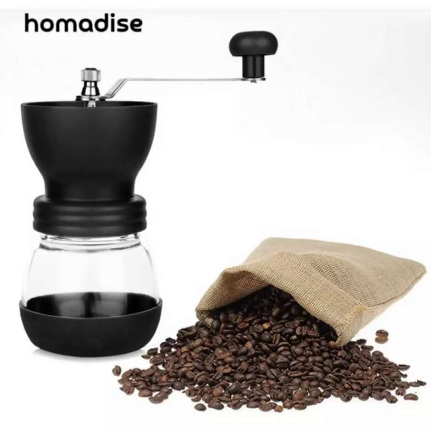 Homadise Alat Penggiling Kopi Manual Coffee Grinder - CF4146 - Black 0