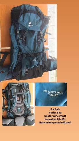 Tas Carier Trekking Backpadk - Deuter AIRCONTACT 75 + 10 - Baru