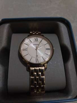 JACQUELINE GOLDTONE STAINLESS STEEL WA Fossil original Watch Brand New