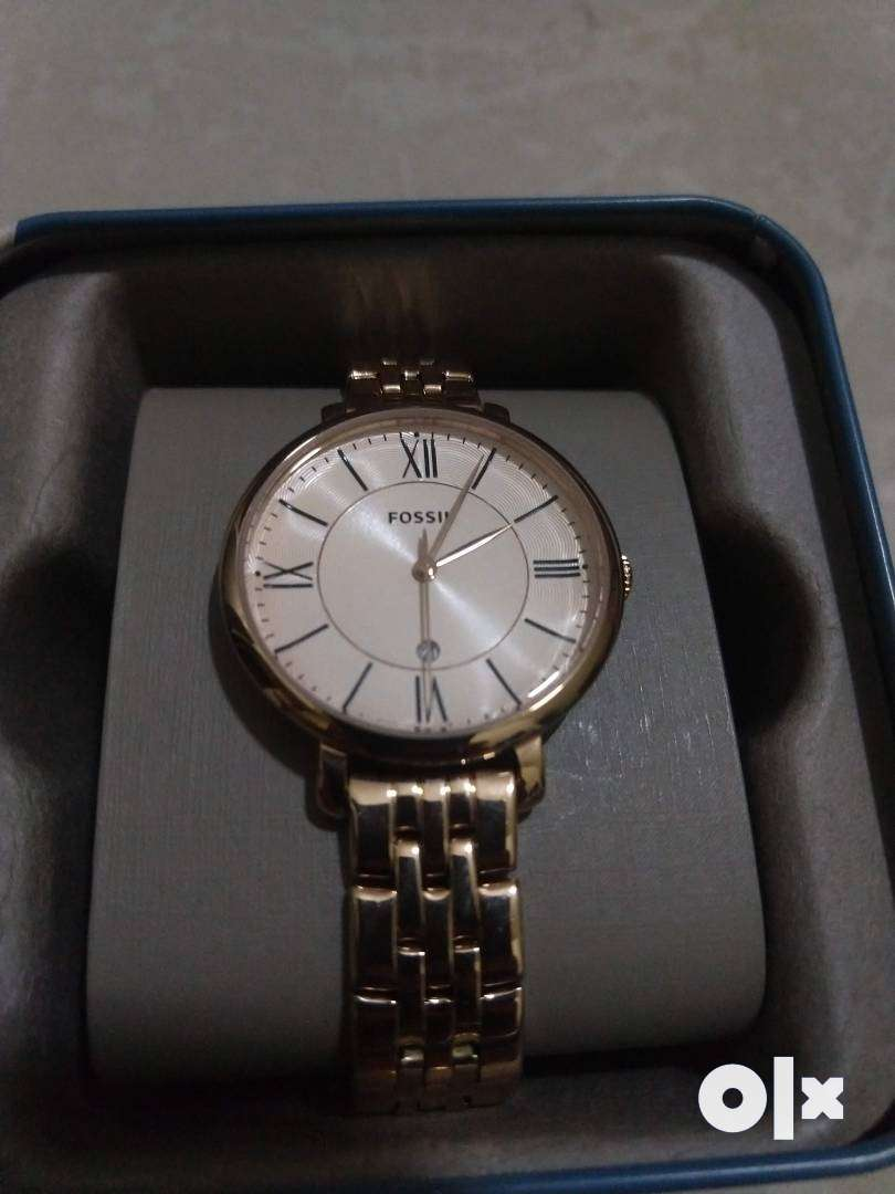 JACQUELINE GOLDTONE STAINLESS STEEL WA Fossil original Watch Brand New 0