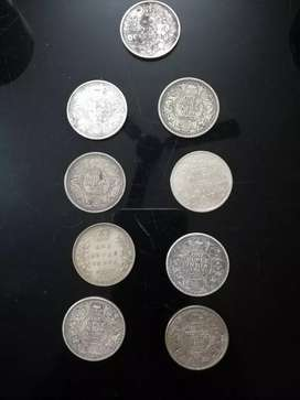 Silver coins of British India