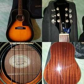 epiphone aj220s/vs gitar solid full akustik