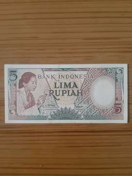 Uang Kuno Rp.Rp.5,-