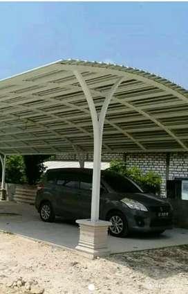 canopi spandek semi lengkung,murah dn brkwalitas tggi aman kuat dn kok