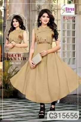 Knee length dress on lowest price