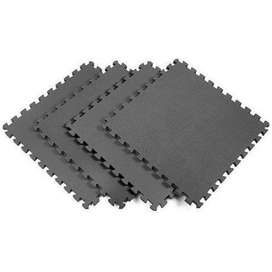 4 Pieces - Gym Floor Mat - Black ( 4 x 4 Size )