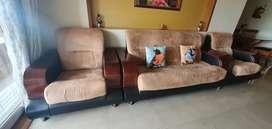 Sofa set 3 + 1 + 1 and Teapoy