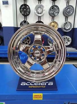 Velg mobil Avega Ring 16 HSR Brisket Lubang 4x100 dan 4x114,3 chrome