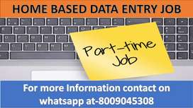 Home based job part time work Data entry typing and ad posting work We