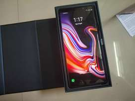 Samsung Galaxy Note 9 Jet Black 6GB/128GB Bill, Box Accessories