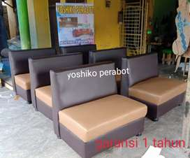 Yoshiko perabot - sofa cafe coklat caramel