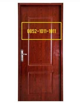 Pintu Rumah dan Kamar Plat Baja Murah Bagus berikut kusen engel Kunci