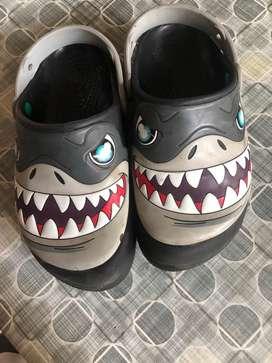 Kids shark crocs