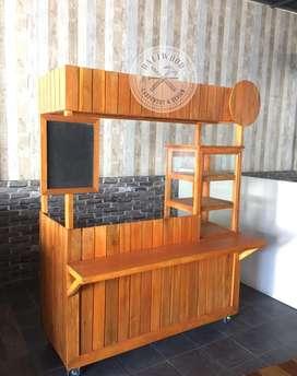 Produksi Rombong / Gerobak / Booth Kayu Bali