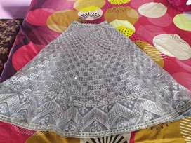 Grey colour heavily embroidered  lehenga