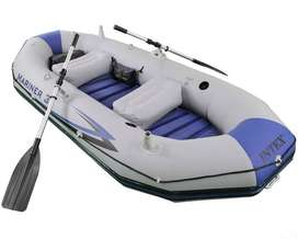 oldzon Mariner 3-Person Inflatable River/Lake Dinghy Boat