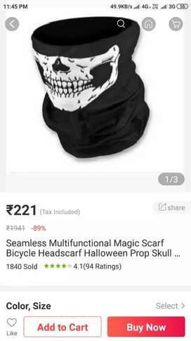 Seamless scarf for man