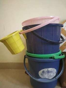 PRICE IS FINAL   4 Buckets + 2 mugs