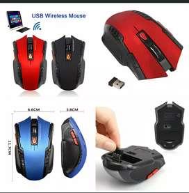 Mouse Gaming Optical 2400DPI 6 Tombol Adjustable Wireless untuk PC