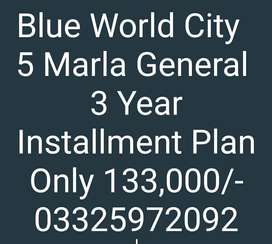 Blue World City 5 Marla Old Booking General Block
