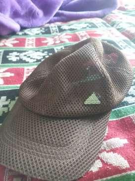 Brown net cap