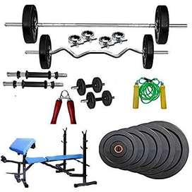 home gym set with multipurpose bench