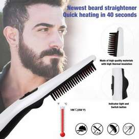 Beared & Hair straightener brush.