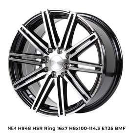 Velg murahnya NE4 H948 HSR R16X7 H8X100-114,3 ET35 BMF