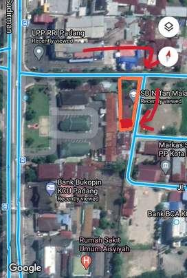 Jual tanah di pusat kota Padang