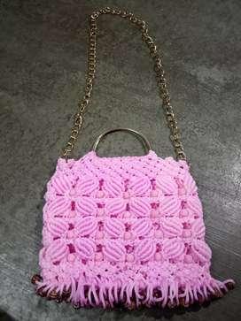 Macram hand bag