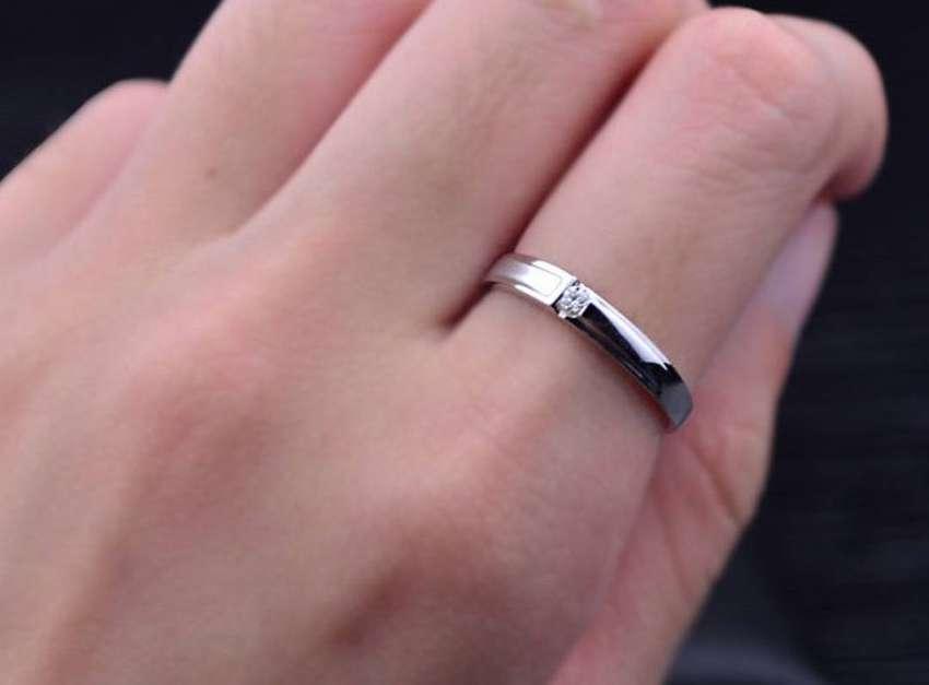cincin sepasang bahan perak palladium platinum dan emas