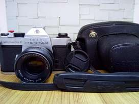 Kamera Analog Pentax spotmatic F lensa Smc Takumar 55mm f1.8