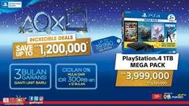 PS4 1TB Mega Pack ,Bisa di cicil bayar 600k aja bunga 0% nih guys