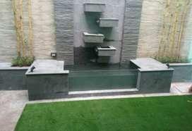 Kolam batu alam/jasa pembuatan kolam permeter